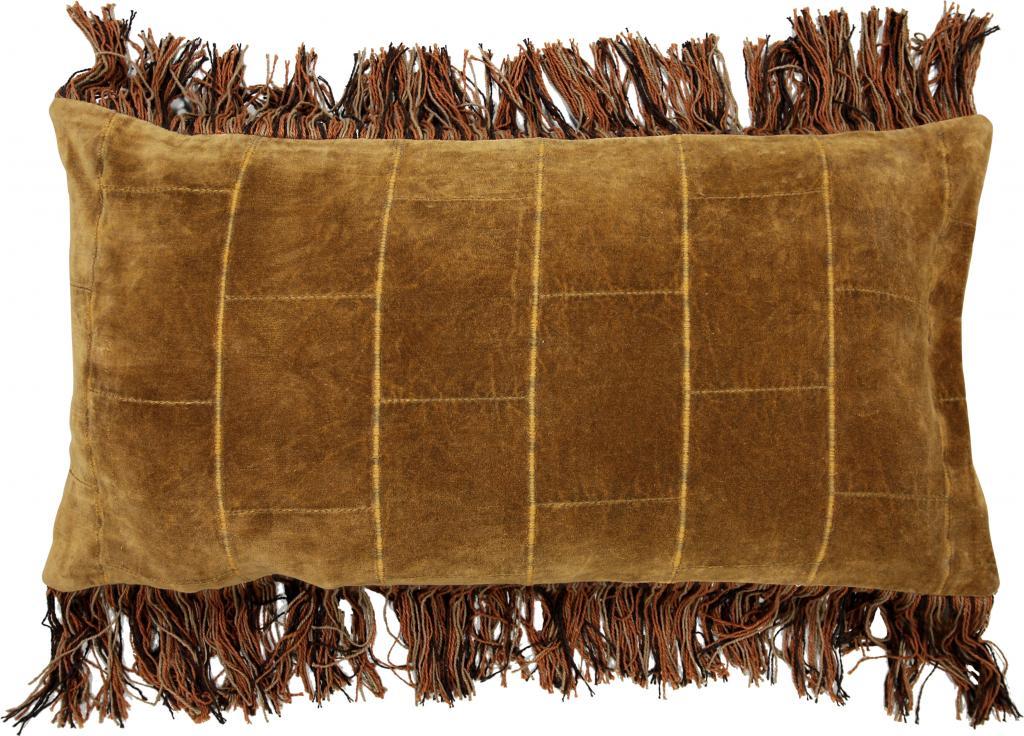 Kissen stonewashed velvet ocker 35 x 70 cm hk living kaufen